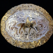 Silver Dressage Figure Buckle