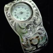 Silver Cuff Style Watch