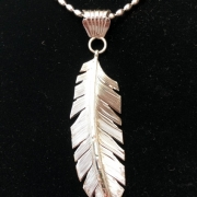Medium Silver Feather Pendant