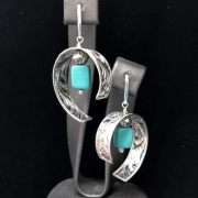 Chandelier And Turquoise Earrings