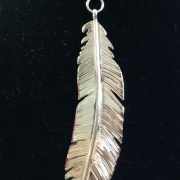 Large Feather Pendant (with choice of necklace)