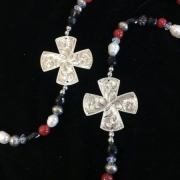 Double Cross Long Necklace