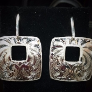 Square Dangle Post Earrings