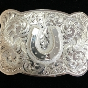 Square Scalloped Horseshoe Buckle